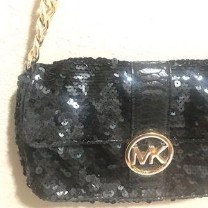 Authentic Michael Kors sequin/snakeprint purse